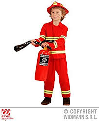 boys fireman sam fire fighter fancy dress costume kids