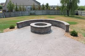 Concrete Patio Color Ideas by Stamped Concrete Step U2013 By U2013 Step Curved Bench Concrete Patios