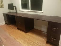 Built In Computer Desks Built In Home Office Using Perfekt Rockhammar Kitchen Cabinets