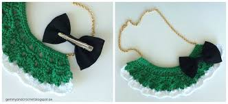 crochet ribbon necklace pattern image collections craft pattern
