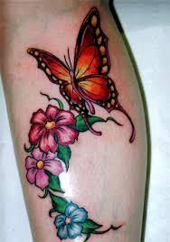 flower butterfly tattoos flower butterfly tattoos moon