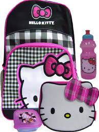 backpacks girls 2012 cheap buy kitty plaid