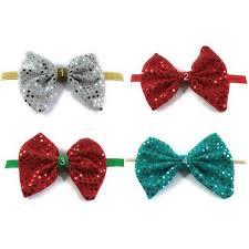 christmas headbands sequin bow baby heabdand silver bow headband baby christmas headband
