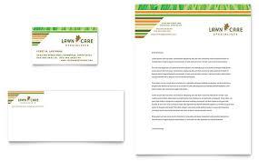 Mowing Business Cards Lawn Care U0026 Mowing Business Card U0026 Letterhead Template Design