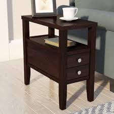 end table with storage baskets wayfair