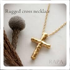 gold jewelry cross necklace images Rapaport rakuten global market k18 rugged cross pendant jpg