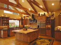 kitchen rustic cabin ideas small log likable home designs haammss