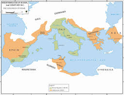 Roman Map Map Of The Roman Republic 2nd Century Bc