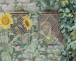 sunflowers for sale tissot jesus looking through a lattice with sunflowers painting
