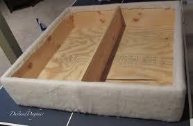 diy tufted top storage ottoman with repurposed coffee sacks