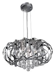 Chrome Ceiling Lights Uk Modern Chrome Ribbon Ceiling Light Pendant 6975 5cc