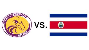 Costarica Flag Mva Girls Varsity Soccer Team Vs Costa Rica National Team