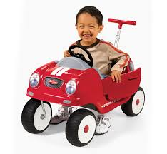 toddler ride on car steer u0026 stroll coupe kids push car radio flyer