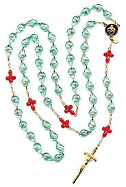 large 5 decade rosary of the unborn w paper booklet