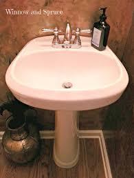 bathroom appealing glacier bay pedestal sink white with brass
