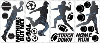sports silhouettes wall stickers wallwall sports silhouettes wall stickers