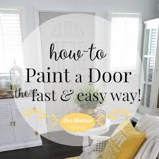 how to paint a door quickly and easily my new grey door at foxhollowcottage
