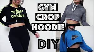 diy workout crop hoodie for the gym fun simple and cheap youtube