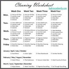 How To Keep Your House Clean | how to keep your house clean worksheets house and organizing