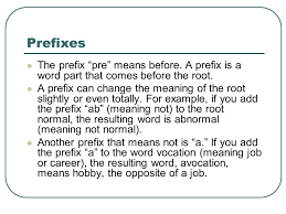 prefixes roots and suffixes ppt