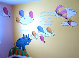 dr seuss nursery wall decals mural hears a who oh the places go