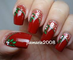 vintage mistletoe christmas nail design nails i love u003c3