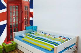 d馗oration chambre angleterre poster union cabine téléphonique et drapeau de l angleterre