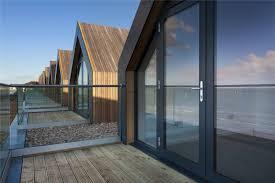 gorgeous modern beach huts have stellar english channel views curbed
