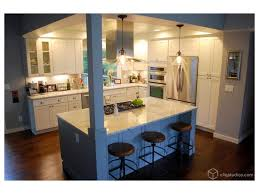 barstool seating painted white kitchen cabinets cabinetry cabinet