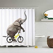 Elephant Curtains Uk Amazon Co Uk Elephant Shower Curtain