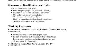 Soft Skills Examples For Resume by Bartender Duties For Resume Formats Csat Co
