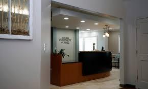 Ada Compliant Reception Desk Malina Chiropractic U0026 Wellness Office Design