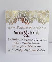 Gold Foil Wedding Invitations Gold Foil Wedding Invitation Set With Rsvp Card Sample Damask