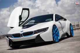 Bmw I8 Blue - bmw i8 on hre wheels bmwcoop