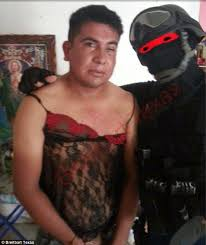 mexican marine humiliates drugs cartel bosses on arrest by