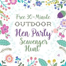 hen party game idea no 4 quick outdoor scavenger hunt faffy
