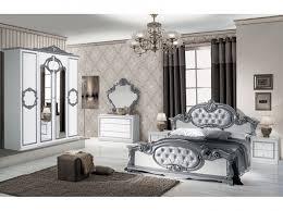 chambre baroque chambre baroque blanche argent pas chère lit chevet armoire