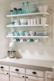 Shelving Ideas For Kitchen Diy Kitchen Open Shelving Ideas Room Image And Wallper 2017
