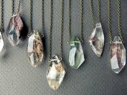 crystal quartz necklace pendant images Garden quartz necklace quartz crystal necklace healing jpg