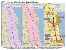 Cta Map Chicago Chicago Cta Rpm Station Consolidation Analysis Part I Purple
