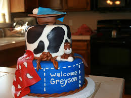 baby shower western themed cake cakecentral com