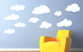 Wall Decals For Baby Boy Nursery Childrens Decor Vinyl Wall Art Clouds Childrens Wall Decal