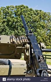 army jeep with gun 0 5 inch browning machine gun mounted on a us army jeep stock