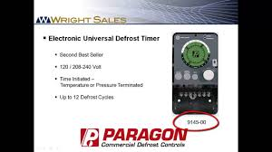 paragon defrost timers 8145 and 9145 overview youtube