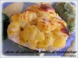 topinambour recette cuisine darne de cabillaud en ecailles de topinambour recette p demangel