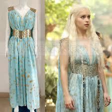 Galadriel Halloween Costume Game Thrones Daenerys Targaryen Qarth Cosplay Costume Dress