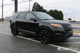 Ford Explorer Black Rims - ford explorer with 22in lexani css15 wheels exclusively from