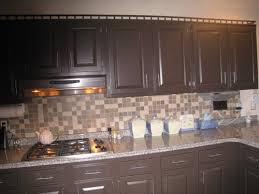 Brown Glass Tile Backsplash by Tile Backsplash With Dark Brown Cabinets My Home Design Journey