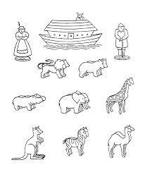 animal cutouts printable noahs ark coloring page for lesson i am