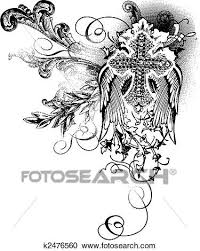 clipart of flying cross with scroll decoration k2476560 search